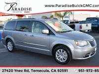 Clean CARFAX. Gray 2016 Chrysler Town & Country Touring