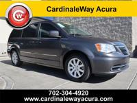 CARFAX One-Owner. Clean CARFAX. Gray 2016 Chrysler Town