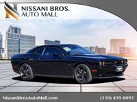 CARFAX One-Owner. Pitch Black 2016 Dodge Challenger R/T