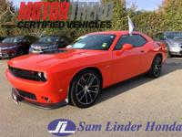 Options:  2016 Dodge Challenger Hemi Scat Pack