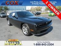 This 2016 Dodge Challenger SXT in Pitch Black Clearcoat