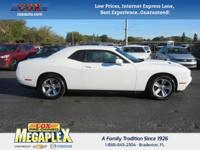 This 2016 Dodge Challenger SXT in White is well