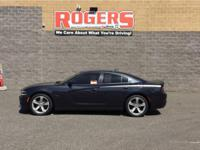 The Charger has a V8, 5.7L high output engine. Our