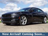 2016 Dodge Charger R/T in Pitch Black Clearcoat, This