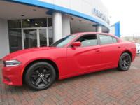 2016 Dodge Charger SXT RWD Red 8-Speed Automatic 3.6L