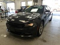 This 2016 Dodge Charger SXT in steel metallic clearcoat