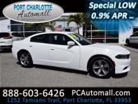 Our 2016 Dodge Charger SXT in Ivory Tri-Coat Pearl