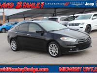 Clean CARFAX. Black 2016 Dodge Dart SXT FWD Automatic