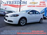 2016 Dodge Dart SXT Bright White Clearcoat One Owner,