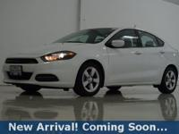 2016 Dodge Dart SXT in Bright White Clearcoat, This