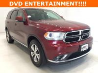 Options:  2016 Dodge Durango Limited|Red|**** Awd ****