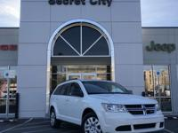 Clean CARFAX. White 2016 Dodge Journey SE FWD 4-Speed