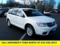 Clean CARFAX. 2016 Dodge Journey SXT White 2.4L I4 DOHC