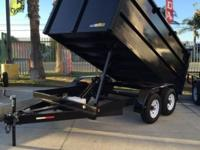 2016 8x12x4 mega dump trailer 12,000GVW Electric brake