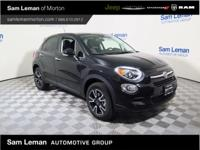 2016 Fiat 500X Easy in Black vehicle highlights