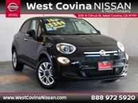 CARFAX One-Owner. Clean CARFAX. Black 2016 Fiat 500X