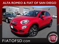 2016 Fiat 500X Rosso Passione (Red Hypnotique Clear