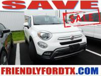 Boasts 30 Highway MPG and 21 City MPG! This FIAT 500X