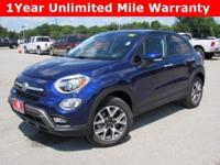 Blue 2016 Fiat 500X Trekking AWD 9-Speed 948TE