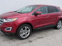 CARFAX One-Owner. Clean CARFAX. Ruby Red 2016 Ford Edge
