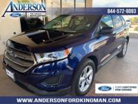 Certified. Kona Blue Metallic 2016 Ford Edge SE FWD