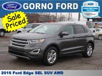 2016 FORD EDGE SEL ALL WHEEL DRIVE. SYNC 3, HEATED