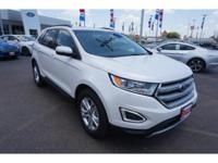 This WHT PLT MET TC 2016 Ford Edge SEL might be just