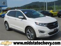 Options:  2016 Ford Edge Sport|White Platinum Metallic