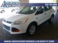 New Price! Oxford White 2016 Ford Escape S FWD 6-Speed