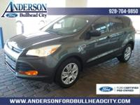 Certified. Magnetic 2016 Ford Escape S FWD 6-Speed