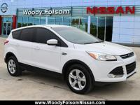 One-Owner. Clean CARFAX. White 2016 Ford Escape SE...