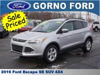 2016 FORD ESCAPE SE 4WHEEL DRIVE. HEATED DRIVER AND