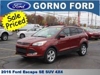 2016 FORD ESCAPE SE 4-WHEEL DRIVE. REVERSE SENSING
