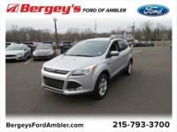 Certified. Silver 2016 Ford Escape SE 4WD 6-Speed