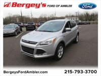 Certified. Shadow Black 2016 Ford Escape SE 4WD 6-Speed