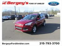 Certified. Ruby Red Metallic 2016 Ford Escape SE 4WD