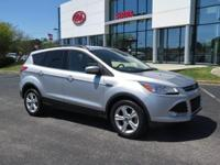 Clean CARFAX. Silver 2016 Ford Escape SE FWD 6-Speed