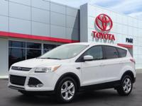 CARFAX One-Owner. White 2016 Ford Escape SE FWD 6-Speed