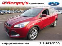 Certified. Ruby Red 2016 Ford Escape SE FWD 6-Speed
