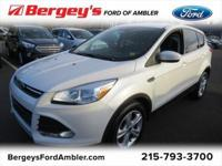 Certified. White 2016 Ford Escape SE FWD 6-Speed