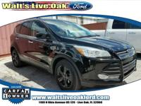 Clean CARFAX. 2016 Ford Escape SE Duratec 2.5L I4 Black