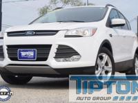 2016 Ford Escape in White exterior and Medium Light