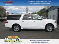 This 2016 Ford Expedition EL Limited in White is well