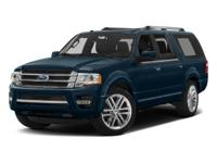 2016 Ford Expedition EL Limited  CARFAX One-Owner.
