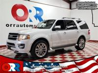 4WD.   White 2016 Ford Expedition Limited 4WD 6-Speed