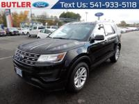 Black 2016 Ford Explorer AWD 6-Speed Automatic with