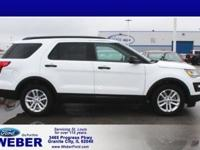 Recent Arrival! White 2016 Ford Explorer With Weber