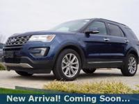 2016 Ford Explorer Limited in Blue Jeans Metallic, This