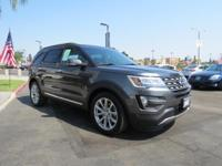 2016 Ford Explorer Limited in Magnetic. Adds excitement