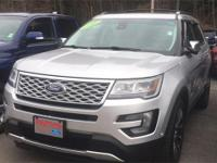 AWD. Silver 2016 Ford Explorer Platinum AWD 6-Speed